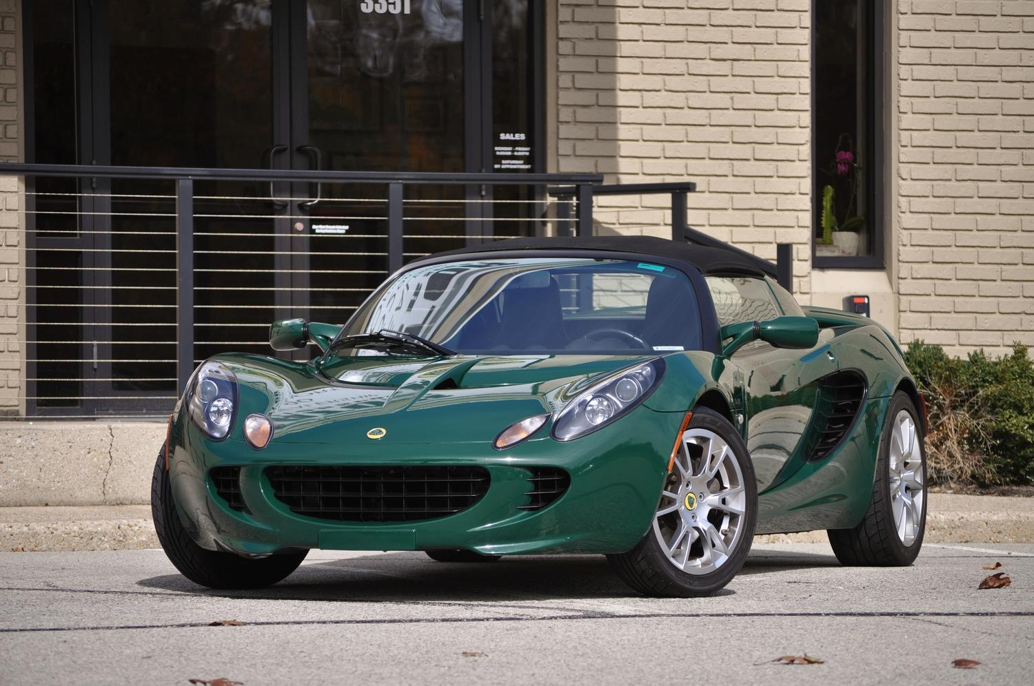 sold 2008 lotus elise s c british racing green black leather 11k miles thank you e h. Black Bedroom Furniture Sets. Home Design Ideas