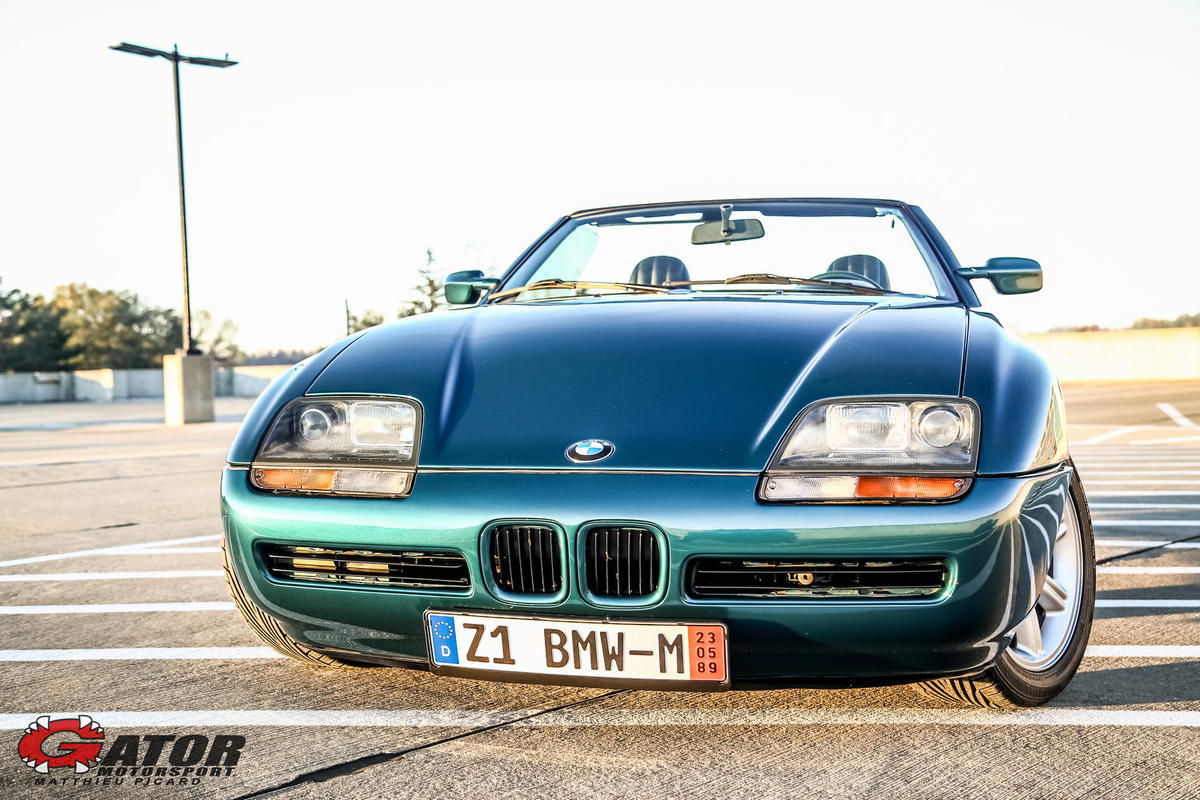 1989 bmw z1 green metallic black leather 40k miles thank you m p fro. Black Bedroom Furniture Sets. Home Design Ideas